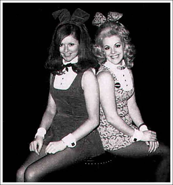 With Bunny Rosemary; we were both Croupier Bunnies at this time