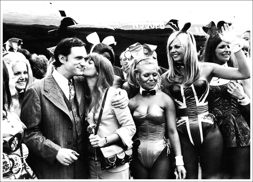 'Hugh Hefner in London 1970